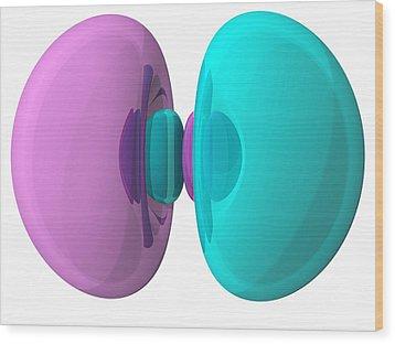 3p Electron Orbital Wood Print by Laguna Design