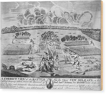 Battle Of New Orleans Wood Print by Granger