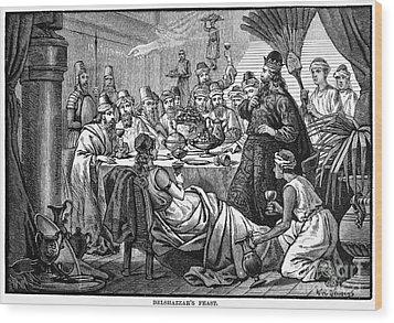 Belshazzars Feast Wood Print by Granger