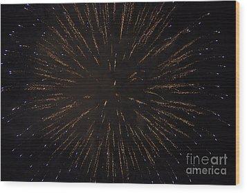 Fireworks Wood Print by Juan  Silva
