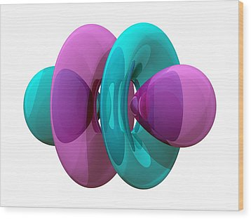4fz3 Electron Orbital Wood Print by Laguna Design
