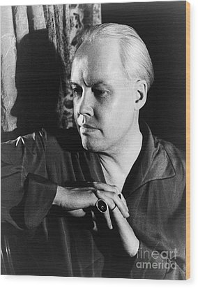 Carl Van Vechten (1880-1964) Wood Print by Granger