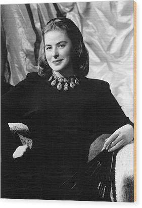 Ingrid Bergman, Portrait Wood Print by Everett