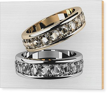 The Beauty Wedding Ring  Wood Print by Rattanapon Muanpimthong