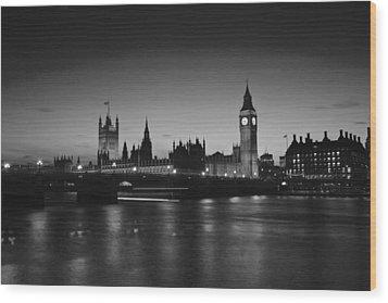 London  Skyline Big Ben Wood Print by David French
