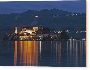 Island Of San Giulio Wood Print by Joana Kruse