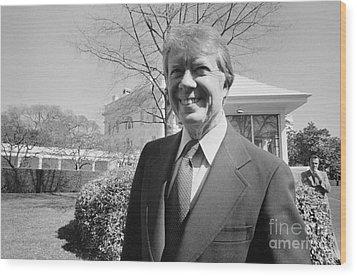 Jimmy Carter (1924- ) Wood Print by Granger