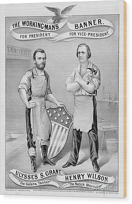 Presidential Campaign, 1872 Wood Print by Granger