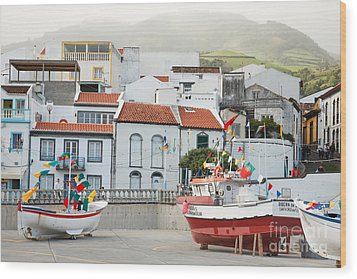 Vila Franca Do Campo Wood Print by Gaspar Avila