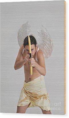 Cupid The God Of Desire Wood Print by Ilan Rosen