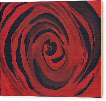 A Centered Rose... Wood Print by Tanya Tanski