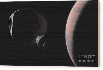 A Command Module Begins A Close Wood Print by Walter Myers