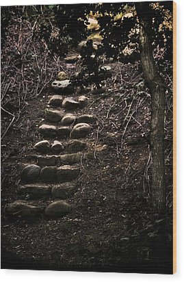 A Few More Steps Wood Print by Odd Jeppesen