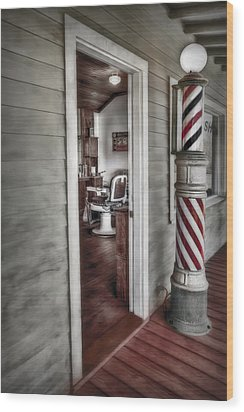 A Look Into The Past Wood Print by Susan Candelario
