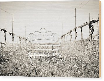 A Moment To Ponder Wood Print by Aileen Savage