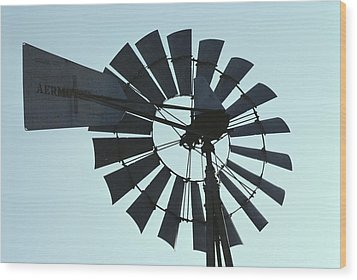 A Near-silhouette Of An Old Windmills Wood Print by Stephen St. John