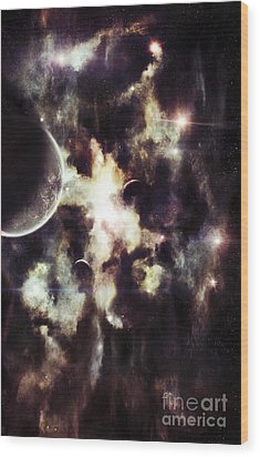 A Parallel Universe So Thin Youre Able Wood Print by Tomasz Dabrowski