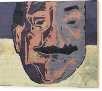 A Peeling Personality Wood Print by Randall Weidner