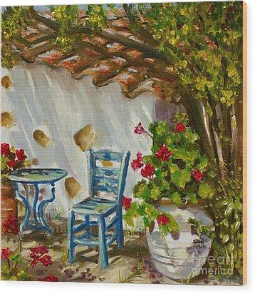 A Quiet Corner Wood Print by Yvonne Ayoub