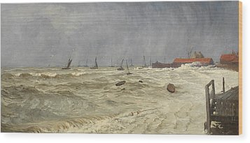 A Rough Day At Leigh Wood Print by William Pye