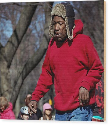 A Skater In Central Park - 2 Wood Print by RicardMN Photography