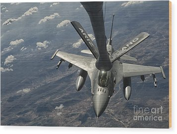 A U.s. Air Force F-16c Block 50 Wood Print by Giovanni Colla