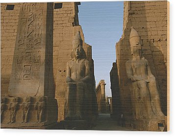 A View Of Luxor Temple Wood Print by Kenneth Garrett