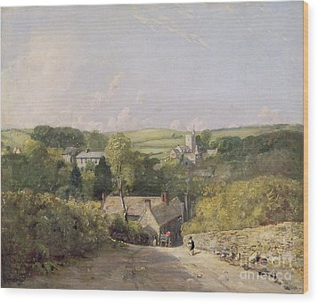 A View Of Osmington Village With The Church And Vicarage Wood Print by John Constable