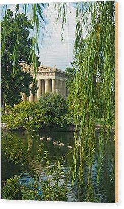 A View Of The Parthenon 15 Wood Print by Douglas Barnett