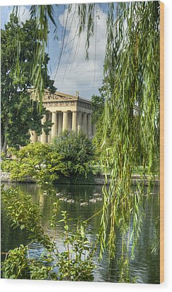 A View Of The Parthenon 16 Wood Print by Douglas Barnett