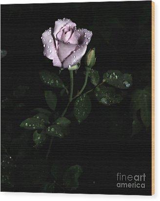 A Vintage Rose Wood Print by Eva Thomas