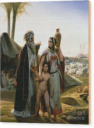 Abraham Turning Away Hagar Wood Print by Emile Jean Horace Vernet