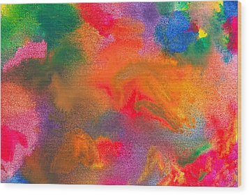 Abstract - Crayon - Melody Wood Print by Mike Savad