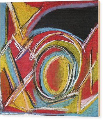 Abstract 9 Wood Print by Sandra Conceicao