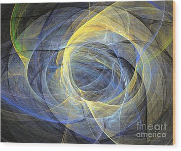 Abstract Art - Delightful Mood Of Abstracted Mind Wood Print by Abstract art prints by Sipo