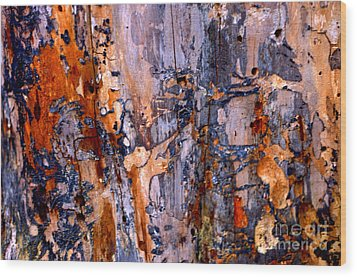 Abstract By Nature Wood Print by Anca Jugarean