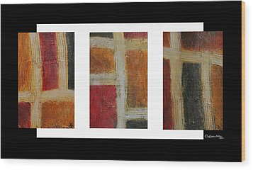 Abstract Collage 1 Wood Print by Xoanxo Cespon