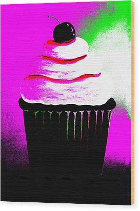Abstract Cupcakes By Shawna Erback Wood Print by Shawna Erback