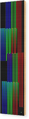 Abstract Fusion 135 Wood Print by Will Borden