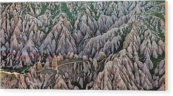Aerial View Landscape Wood Print by Julio López Saguar