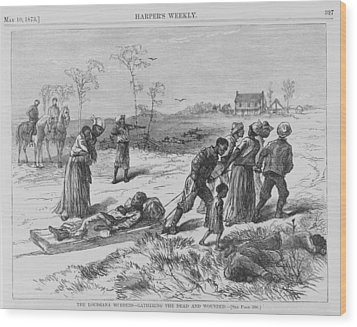 African American Gathering The Dead Wood Print by Everett