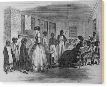 African American Students Wood Print by Everett