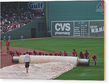 After The Rain Delay Wood Print by Mike Martin