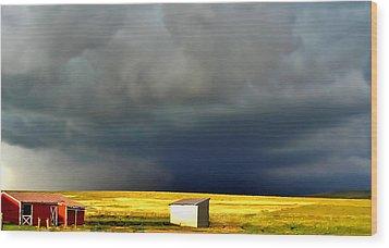 Afternoon Storm Wood Print by Ellen Heaverlo