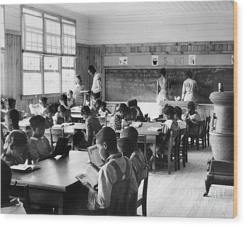 Alabama: Schoolhouse, 1939 Wood Print by Granger