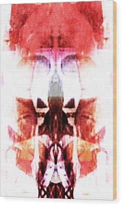 Alien King Wood Print by Andrea Barbieri
