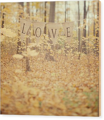 All Is Love Wood Print by Irene Suchocki