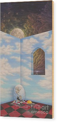 All The Kings Horses Wood Print by Arley Blankenship