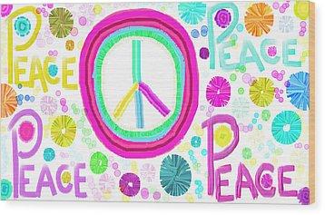 All The Peace Wood Print by Rosana Ortiz