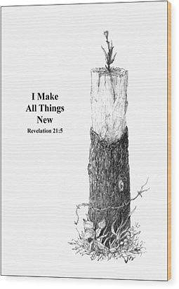 All Things Wood Print by Mike Ivey